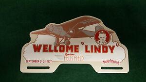 Charles Lindbergh Spirit of St. Louis License Plate Topper 1927 Spokane Washingt