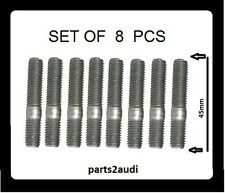 Exhaust Manifold Stud fits VOLVO - 4 Cylinder Non Turbo Engine SET OF 8 PCS