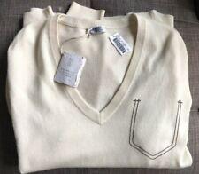 NWT $1,395!!! Brunello Cucinelli Men's CASHMERE Cream Sweater Size L