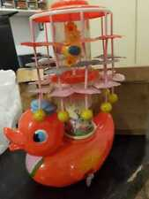 RARE JAPAN - 50´S CELLULOID CARROUSEL WIND UP - HIBIKI big duck st