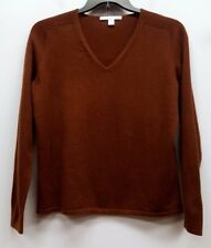 BELFORD Size XL Brown Cashmere V-Neck Pullover Sweater Top