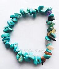 Gemstone Crystal Turquoise Chakra Chips Bracelet Birthstone Sagittarius Nov De B