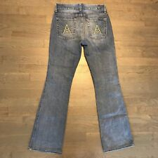 """Seven for all Mankind 7 Jeans """"A"""" Pocket Light Blue Wash Bootcut Woman's Size 27"""