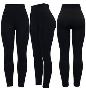 New Women Thick Warm Winter Soft Fleece Lined High Waist Legging Plus Size 8-26
