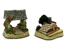 Lot of 2 David Winter Cameos Lych Gate And Saddle Steps Coa And Box Perfect
