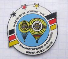 BENNER / POOCH GÖHLER  / WARSTEINER BALLOONING TEAM  ... Bier-Ballon-Pin (125c)
