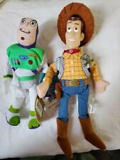 Disney Store Toy Story Woody Buzz Bean Bag Plush Stuffed Animal Toy