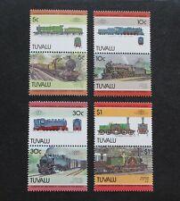 TUVALU - SCARCE EARLY LOCOMOTIVES SE-TENANT PAIRS SET TO $1 MNH RR