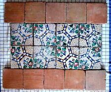 composizione pannello mattonelle riggiole antiche cotto piastrelle  lotto119