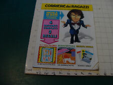 CORRRIERE dei PICCOLI anno I-#4 1972, some wrinkling, has suppliment inside 66pg