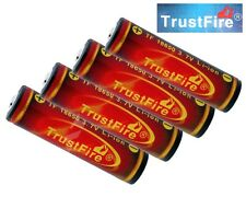 4x Original Trustfire 18650 3000mAh 3.7V geschützte li-ion Akku (Flame)