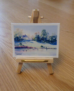 1/12, Dolls House miniature Luxury Wood Artists Easel & Painting Art Picture LGW