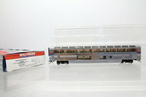 H0 Walthers 932-16191 US Amtrak Lounge Personenwagen coach silber OVP/J48