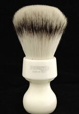 Zenith Resin Handle XL Synthetic White Shave Brush. 27.5mm. Made in Sicily. S2
