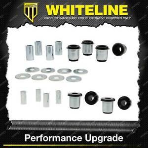 Whiteline Front Control Arm Lower Upper Bush Kit for Toyota Landcruiser Prado 95