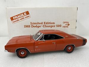 1/24 Danbury Mint 1969 Dodge Charger 500 Limited Orange  RARE