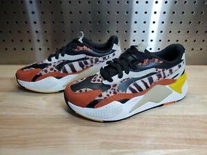 Puma RS-X3 W.Cats Wns Wildcats Black Rust Leopard Women Casual Shoes 373953-02