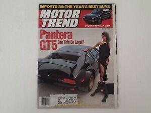 Vintage Magazine: MOTOR TREND, December 1984 Volume 36 #12, DeTomaso PANTERA GT5