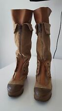 Chloe Tan Suede and Leather Combo Slip On Fashion Snow Boots Sz 36 1/2( 6.5 US )