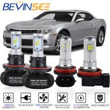Bevinsee For Ford Mustang 05-12 H13 9008 H11 LED Headlight Fog Light Bulb Combo