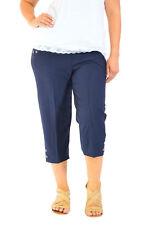 Nouveau Femmes Grande taille Poche recadrée Pantalon Taille elastique Nouvelle