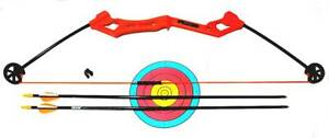 New Little EANA  Archery Bow with 2 Arrows and Paper Target