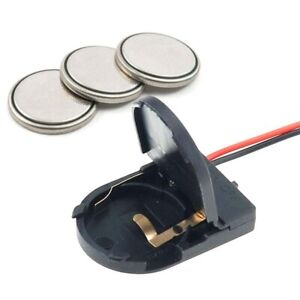 5PCS CR2032 Button Coin Cell Battery Socket Holder Case Cover With ON-OFF