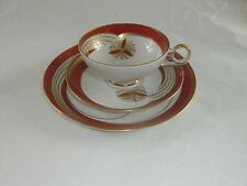 Collection Dining Set Antique Cup Plate Saucer w 1764 Teacup Deco Cult Collect