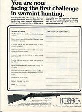 1974 Print Ad of Mossberg Model 800VT Varmint Hunting Rifle