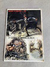 T) Postcard Military Large Format 2 ° Genius Miners Pietro Micca d' Ercoli