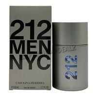 212 MEN by Carolina Herrera for Men 1.7 oz EDT Spray NIB AUTHENTIC