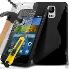Cover e custodie pelle sintetici neri modello Per Huawei Y3 per cellulari e palmari