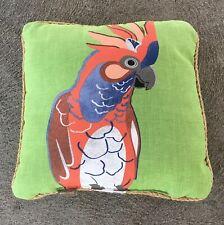 Allen + Roth 16x16 Parrot Outdoor Decorative Throw Pillow Jute Trim
