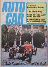 Autocar 26/7/1973 featuring Triumph Dolomite Sprint, Toyota Celica, Land Rover