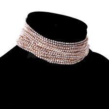 Kropfband Kristallrhinestone Halskette Kropfkette Damen Modeschmuck - Gold