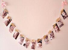 Polka Dot Sky 1st Birthday Recording 1-12 Month Photo Banner Garlands Monthly UK