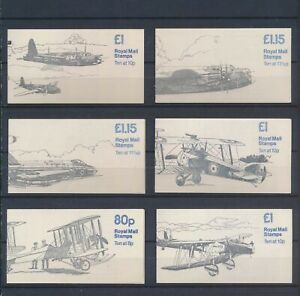 XC88456 Great Britain airplanes aviation booklets MNH