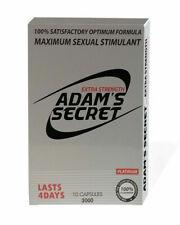 Adam's Secret Male Enhancement Pills Men Sexual Performance Enhancer 3000 10pill