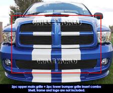 For 2004-2005 Dodge Ram SRT 10 Replacement Black Billet Grill Insert Combo