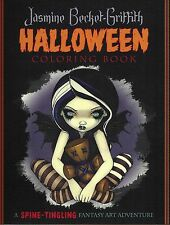 HALLOWEEN COLORING BOOK Jasmine Becket-Griffith goth dark fairy color book