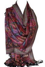 Écharpes et châles à motif étoles noirs Cachemire pour femme