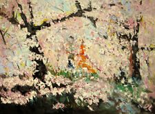"Original Oil Painting Cherry Blossom  18x24""      Julia Lu"