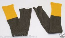 British wool hose tops leggings putties yellow and olive green pair  M7652
