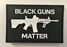 Black Guns Matter B & W PVC Patch (SEAL MARSOC Special Forces Green Beret) 776