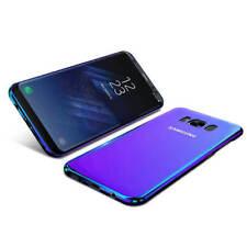 Bleu Ray Pente Couleur Miroir Étui Arrière Rigide Pour Samsung Galaxy S7 S8+