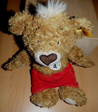 "Steiff 014444 - Teddybär ""Knopf"" 25 cm hellbraun mit roter Hose ganz sehr süß"