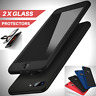 For iPhone X 8 6s 7 6 Plus Silicone 360° Shockproof Case Tempered Glass Cover