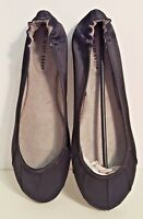 THE DESSY GROUP Womens Size 10 Black Satin Ballet Flats (fits like a size 9-9.5)