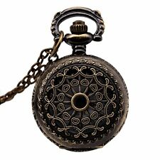 "Watches Vintage Bronze 31.5"" Chain Antique Pocket Watch Fashion Gift-Cobweb LW"