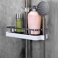 ABS Plastic Bathroom Shelf Shower Rack Wall Mount no Drilling Shower Organiser^